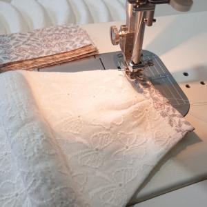 刺繍ガーゼマスク