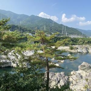 徳島県吉野川の無料^^キャンプ場/美濃田の淵キャンプ村