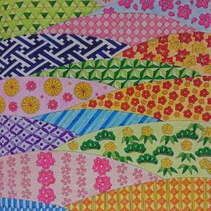 春夏秋冬和の塗り絵ブック7  花畑