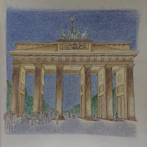 大人のスケッチ塗り絵27 ベルリン・ブランデンブルク門