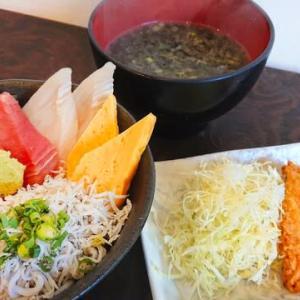 地魚3種シラス丼とお供セット♪海鮮丼屋 小田原 海舟 本店