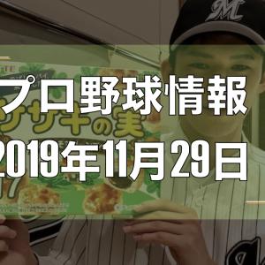 プロ野球最新情報【2019年11月29日】