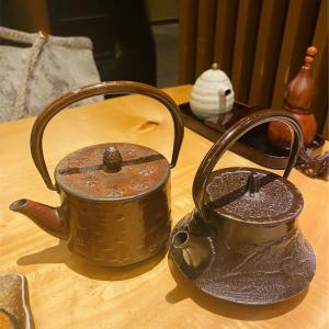 日本酒は南部鉄瓶で♡