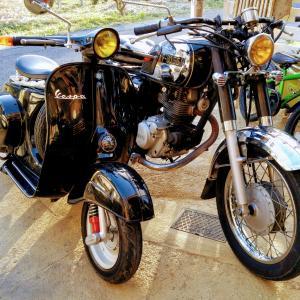 【カスタム一例】ヴィンテージ、クラシック、ミリタリー系カスタム 古き良きバイクの形! 【ストリートバイク、ビジネスバイクベース、鉄スクーター】