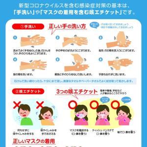 コロナウイルス感染予防と対策をまとめました