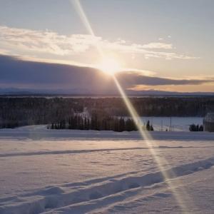 【アラスカ】日照時間3時間40分:冬至のフェアバンクス