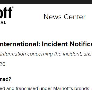 マリオットの情報漏洩はどの程度まで?