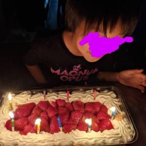 次女の誕生日〜 コストコケーキ