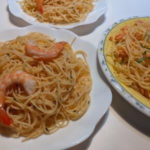 コストコ商品で スパゲティー お昼ごはん