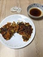 美味しくパワーアップ!キムチと豆腐のチヂミ