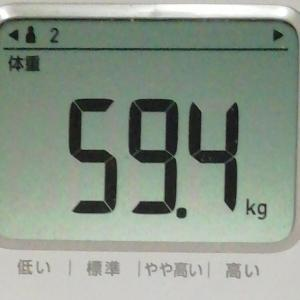 2020年1月6日 55日目  体重変わらず・・・