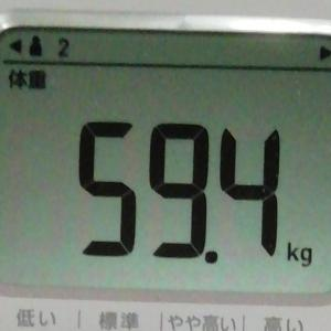 2020年1月21日 70日目 ご飯食べたのに体重が・・・