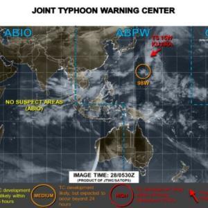台風14号2020米軍ヨーロッパ・気象庁など進路予想!予報図と日本接近はいつ?