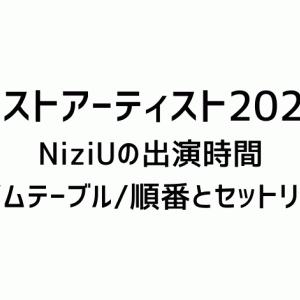 ベストアーティスト2020NiziUの出演時間とタイムテーブル/順番とセットリスト