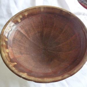 奥会津 すり鉢 古民具 古道具  山芋すり鉢 陶器 インテリア 鉢カバー  焼物 年代物