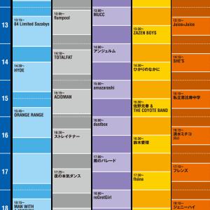 『COUNTDOWN JAPAN 19/20』のタイムテーブルが発表されたんです!!!