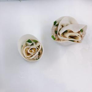 娘と初めてのバラ餃子作り!