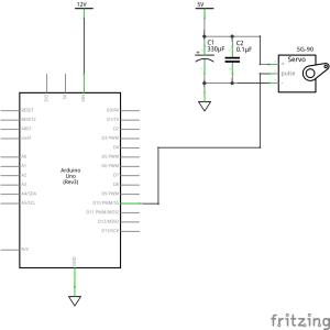 Arduino のマルチタスク (4) サーボモータをクラスで動かす