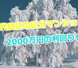 千代田区の区分マンション2000万円の利回りを計算!所有不動産会社の情報も掲載!
