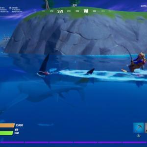 【フォートナイト】サメに乗る方法を解説!水を自由に移動しよう!【シーズン3】