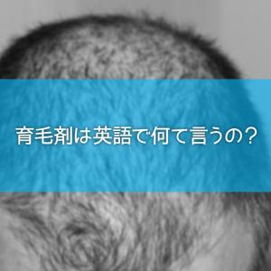 育毛剤は英語で何て言うの?