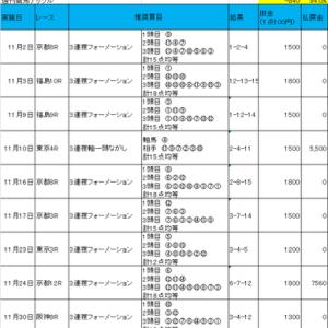競馬無料情報検証_週刊競馬ナックル_2019年11月の総括