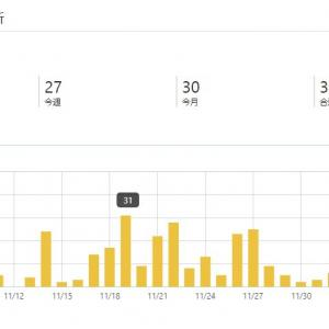 ブログを始めて1ヶ月経ったのでアクセス数を見てみる
