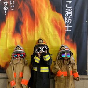 ちびっこ消防士。