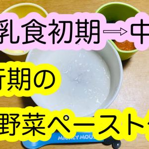 離乳食初期(ゴックン期)から中期(モグモグ期)の移行レシピ【野菜】
