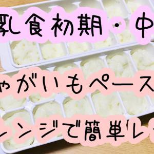 【離乳食】じゃがいもペースト!レンジで簡単レシピ!【初期・中期】