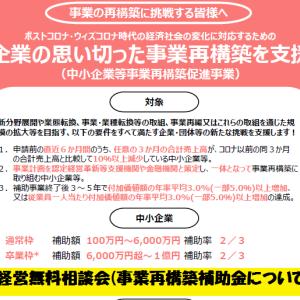 経営無料相談会(事業再構築補助金について)