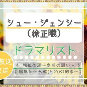 シュー・ジェンシー(徐正曦)の出演ドラマリスト!日本放送・未放送ドラマも。《独孤伽羅》後も続々出演ドラマが上陸です。