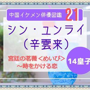 中国俳優 21 シン・ユンライ(辛雲来)《宮廷の茗薇<めいび>》十四皇子!有名人気俳優に似てる!?涼しい目元のイケメンです