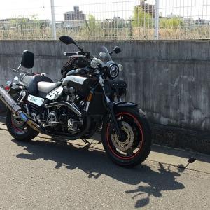 桜見に一人バイクなら