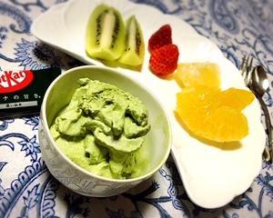 手作りアイスクリームのレシピ 抹茶
