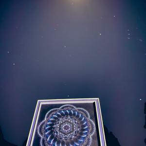 冬の星天  流星