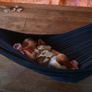生後3ヶ月のカンボジアベイビー