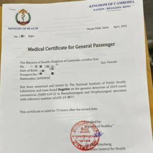 渡航用PCR検査2021年4月