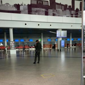 2021年4月中旬プノンペン空港の様子