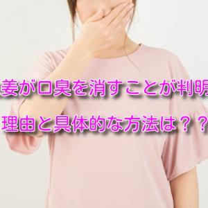生姜は口臭を予防する効果あり!!その根拠と具体的な方法を紹介