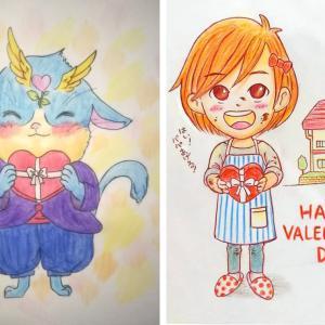 シャドくんとアンちゃんのバレンタイン