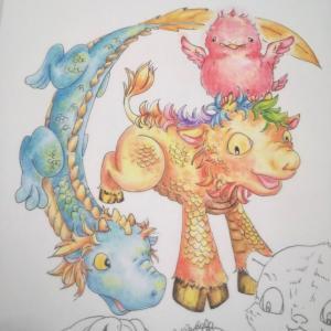 私が五神獣を描いたら