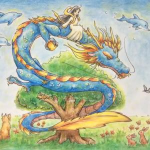才能の種を育てる龍
