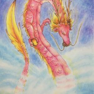 ピンクの龍と霊獣の言葉
