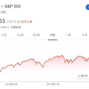 【歓喜】S&P500過去最高値更新中です。