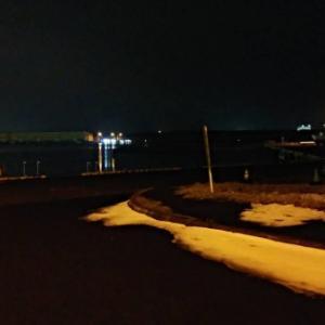 石狩湾 平日夜に偵察してみた。