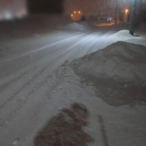 大雪でホッケの干物が・・・