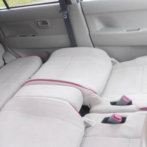 軽自動車での車中泊練習。