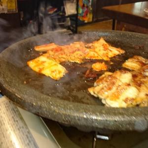 上野の焼肉屋からはしご酒デート