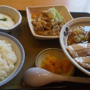 山田うどんで朝定食とパンチ(戸田)